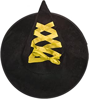Lace Up Ribbon Halloween Witch Hat