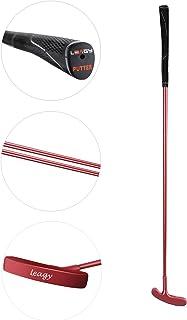 LEAGY Tijdloze klassieke golfputer 35 inch lengte - Putt Putt stijl tweeweg hoofd en premium rubberen grip voor mannelijke...