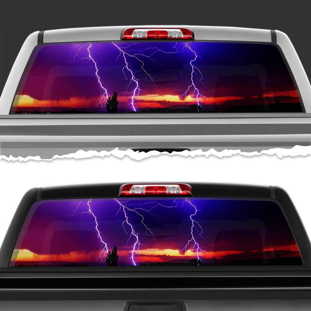 Simynola Lightning Storm Limited time for free shipping Perforated Film Virginia Beach Mall Car Accessories W Truck