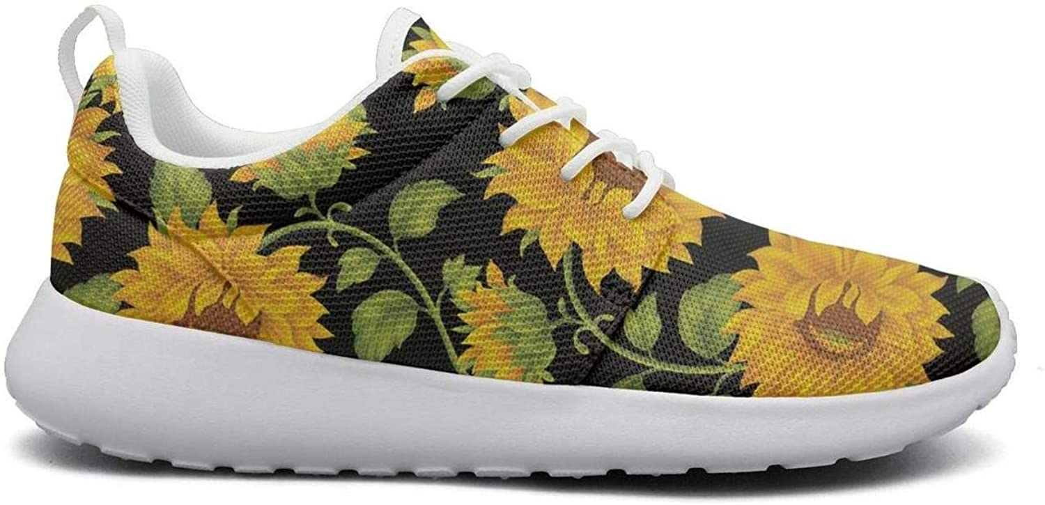 CHALi99 Casual Womens Lightweight Mesh shoes Floral Fall Autumn Summer Sunflower Sneakers Workout Rubber Sole