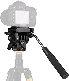 """Fluid Head,pangshi VT-1510 Video Camera Tripod Action Fluid Drag Pan Head with 1/4"""" Screws Sliding Plate for Canon Nikon Sony DSLR Camera Camcorder Shooting Filming"""