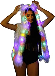 SAOMAI LED Light up Vest Womens Hoodie Performance Costume for Party Carnival