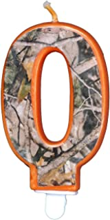 Hunting Camo Birthday 3 Inch Number ''0'' Zero Candle, Next Camo Party Collection by Havercamp