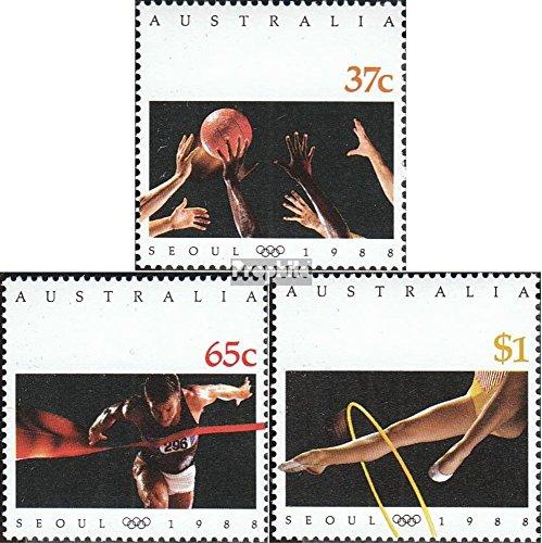 Prophila Collection Australien 1123-1125 (kompl.Ausg.) 1988 Olympia (Briefmarken für Sammler) Basketball/Volleyball/Handball