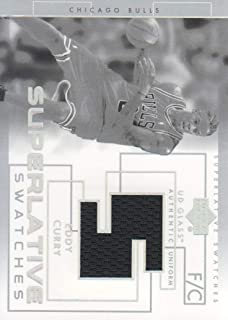 2003-04 Upper Deck UD Glass Basketball Superlative Swatches #EC Eddy Curry JERSEY Bulls