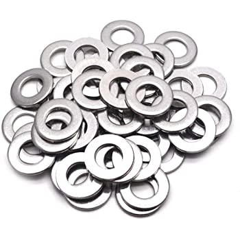 304 Stainless Steel Pack of 300 Plain Finish M4 Flat Washer 9mm OD for Bolt and Screw 0.8mm Thickness 4mm ID