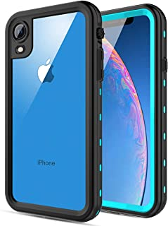 Case for iPhone XR, FXXXLTF iPhone XR Waterproof Full-Body Protection Clear Case Shockproof Drop Resistance Premium Ultra Slim Hybrid Rugged Cover Cases Compatible for iPhone XR 6.1 Inch (Teal)