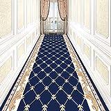 XXXZZL Teppichläufer Korridor Teppich Läufer Teppich Flur Korridor rutschfeste Flur Läufer Teppich Länge Anpassbare for Corridor,Blau,1.2m*6m