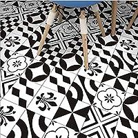 家の装飾のための5個/セットの台所のタイルのステッカータイルのステッカー自己粘着性の装飾的な壁のタイル家の台所の装飾家具の装飾白黒20cm * 100cm