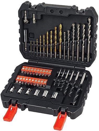 BLACK+DECKER Set de 50 Piezas con Brocas y Puntas para Atornillar y Taladrar A7188-XJ