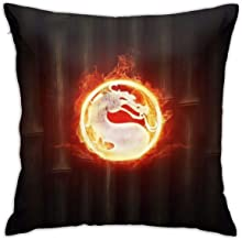 NFEMNEO Mortal Throw Pillow Cover Kombat Logo Decorative Sofa Square Cushion Pillowcases 18x18 Inch