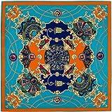 YDMZMS Marchio Sciarpa di Seta Twill 100% Donna Sciarpa silenziosa con Stampa Cielo Notturno Bandana 100 cm Sciarpe quadrate Femal Foulard Turban3