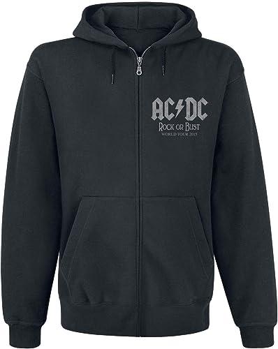 Générique AC DC World Tour 2015 Sweat-Shirt zippé à Capuche Noir
