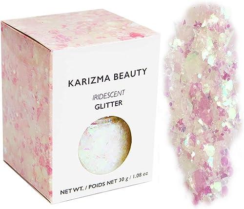 Iridescent Chunky Glitter Large 30g // Karizma Beauty // Cosmetic Glitter Face Body
