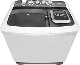 Midea 10 Kg Twin Tub Semi Automatic Washing Machine, White - MTE100P1101Q, 1 Year Manufacturer Warranty