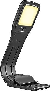 OurLeeme ultrasottile dimmerabile luce della lettura del LED USB ricaricabile 4 livelli di luminosit/à regolabile flessibile della lampada di lettura clip sul Libro per Ipad e Altro