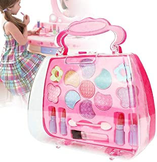 quysvnvqt Baby Toys Kids Girls Makeup Set Eco-Friendly Cosmetic Pretend Play Kit Princess Toy Gift