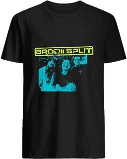 Brodii Split Band T shirt Hoodie for Men Women Unisex
