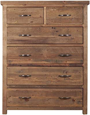 Etnicart - High Country Pine Chest Of Drawers-100x130x45-SOLID WOOD
