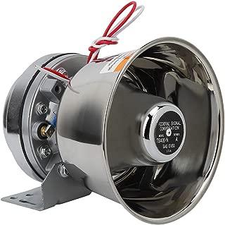 Qii lu 12V 115-130db Motorcycle Stainless Steel Loud Warning Alarm Horn Speaker