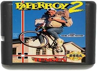 The Crowd Tradensen Paperboy 2 Region Free 16 Bit MD Carte de Jeu pour Sega Mega Drive pour Genesis