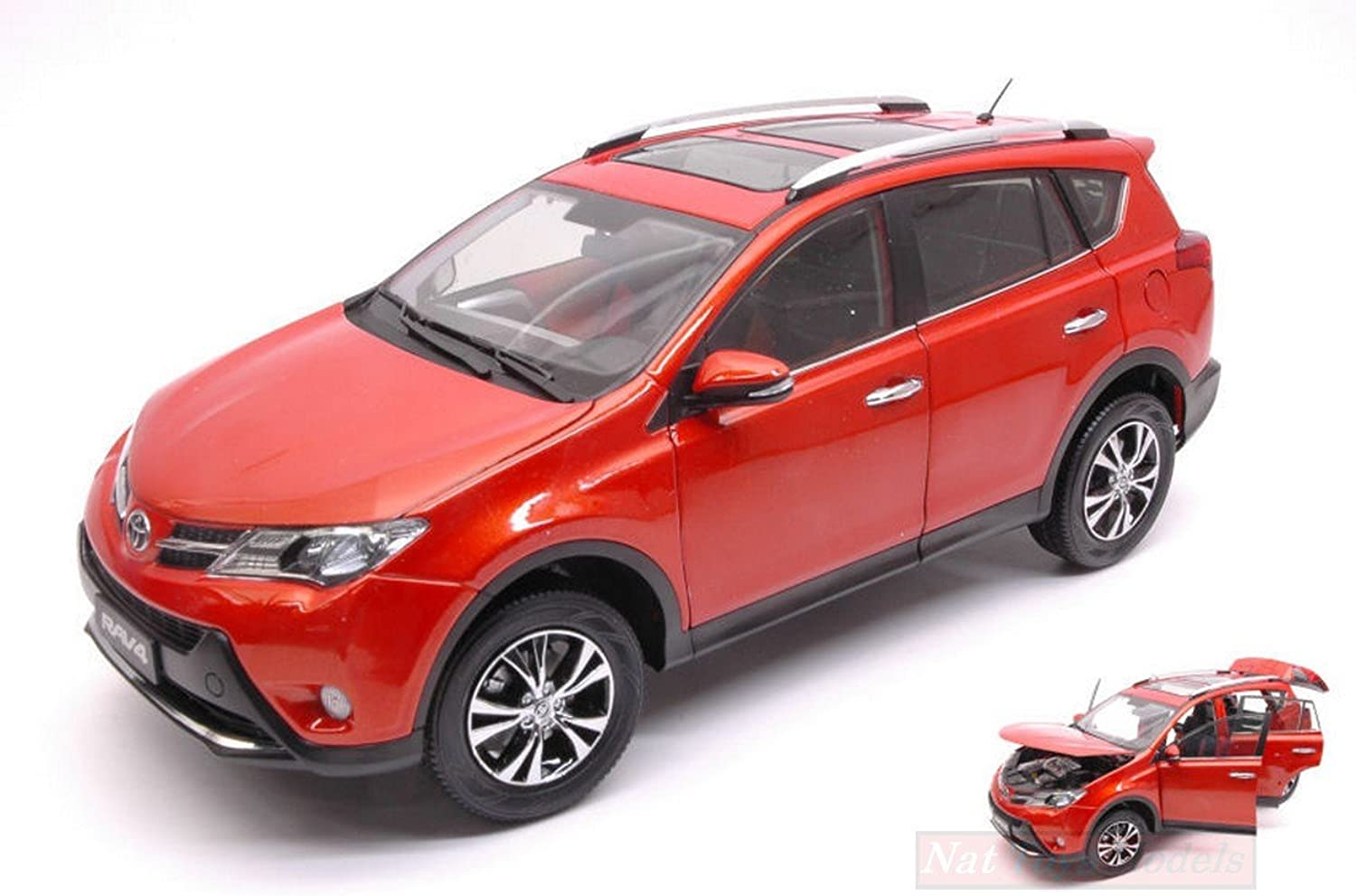 PAUDI MODEL PD2301OR TOYOTA RAV 4 2013 Orange 1 18 MODELLINO DIE CAST MODEL