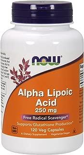 NOW® Alpha Lipoic Acid, 250 mg, 120 Veg Capsules