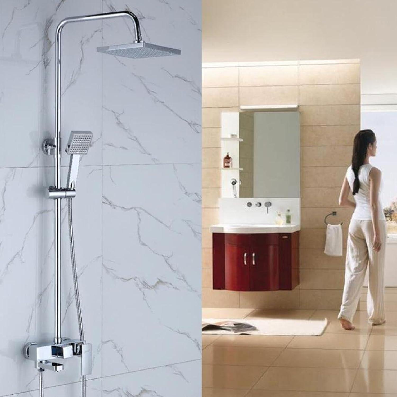 LyMei Badezimmer-Duschsystem-Regen-Mischer-Duschkombo-Satz Justierbarer Niederschlag-Duschekopf mit Handduschen