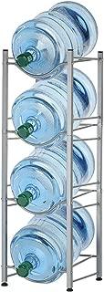 4-Tier Water Bottle Holder Shelf Cooler Jug Rack, Detachable Heavy Duty Water Bottle Cabby Rack, 5 Gallon Water Bottle Storage Rack