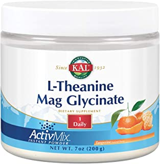 KAL L-Theanine Mag Glycinate ActivMix | Healthy Relaxation, Stress, Mood & Focus Support Drink Powder | Natural Tangerine ...