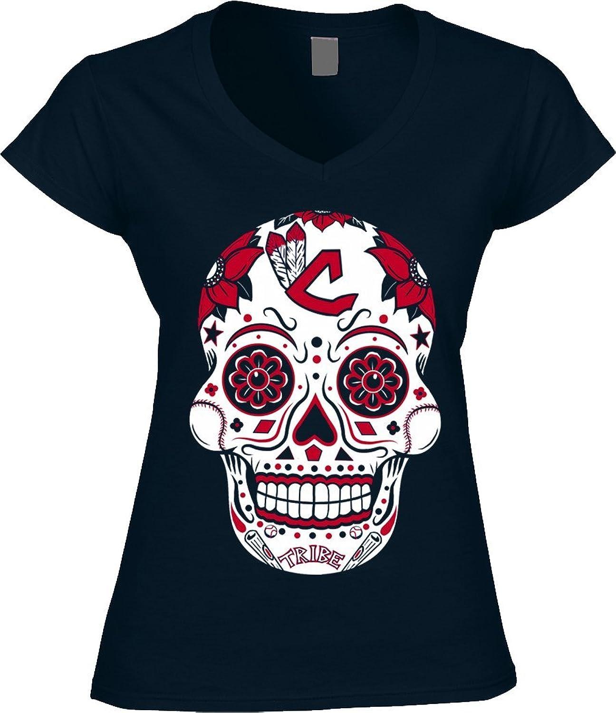 America's Finest Apparel Cleveland Sugar Skull Tribe  Women's Baseball