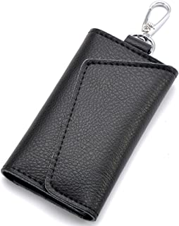 Aladin Leather Pocket Key Organizer Case with 6 Hooks & 1 Car Key Fob Holder