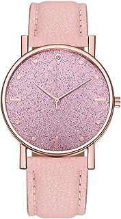 Neubula - Reloj de pulsera para mujer, cuarzo, analógico, reloj de pulsera de lujo con correa de piel para novia, vacacion...