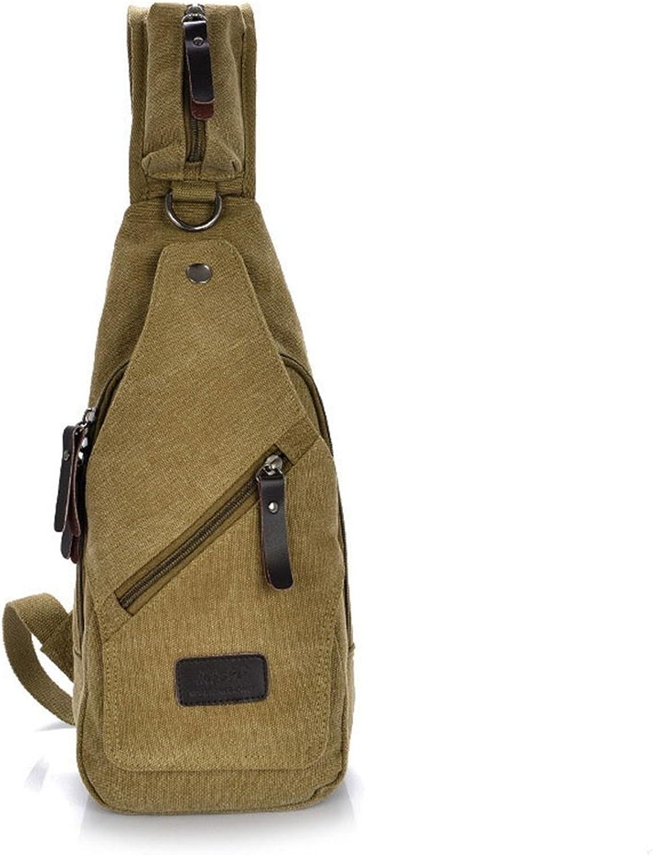 Zhangcaiyun Brusttasche für Männer Männer Männer Einfache Retro-Brusttasche Reißverschluss Wasserdichte Leinwand Umhängetasche Schultertasche Farbe  Khaki Crossbody B07KZ71VZG  Moderne und stilvolle Mode 6b979b