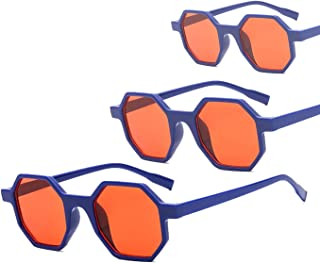 Sunglasses Fashion Accessories Retro Vintage Sunglasses for Women Plastic Frame 3273 (Color : Orange)