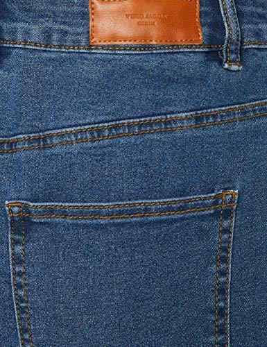 Vero Moda Vmhot Nine HW Dnm Pencil Skirt Mix Noos Falda, Azul (Medium Blue Denim Medium Blue Denim), 38 (Talla del Fabricante: Medium) para Mujer
