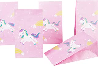 Beauenty 24pcs /Set Unicorn Gift Bag Kids Party Perfect decorating with 24 unicorn cupcakes and wrapping paper - Unicorn P...