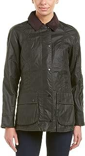 Barbour Womens Beadnell Wax Jacket, 14, Green