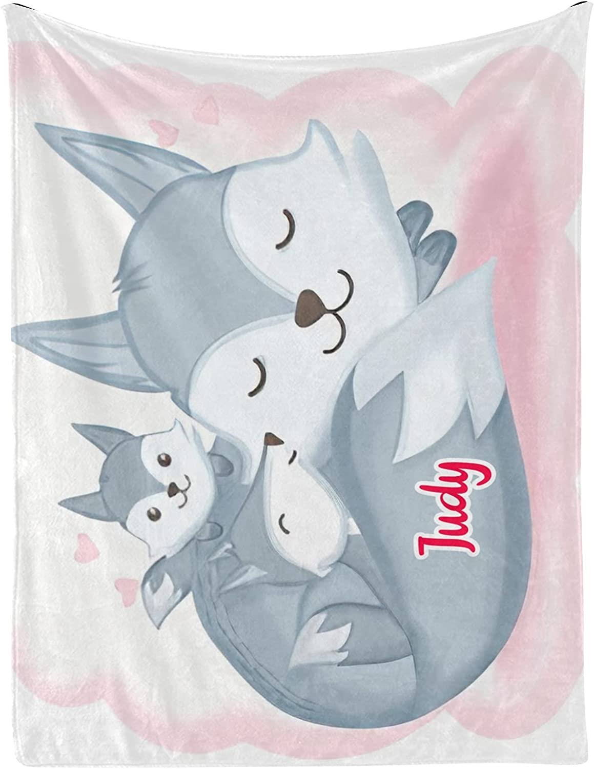 1 year warranty Fox Heart Ranking TOP7 Watercolor Personalized Baby Blankets with Name 30x40