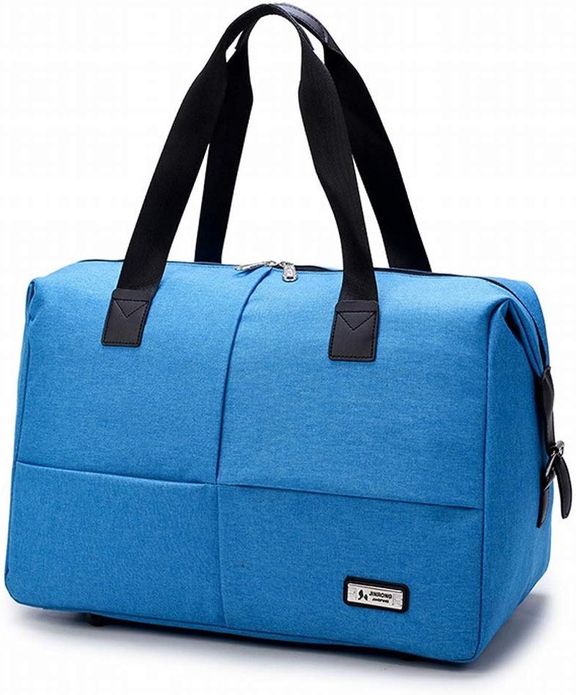 Klerokoh Faltbarer wasserdichter Sport Gym Travel Weekender Seesack Seesack Seesack für Damen Herren (Farbe   Blau) B07QGCMDR2  Bekannt für seine schöne Qualität 3d7fb1