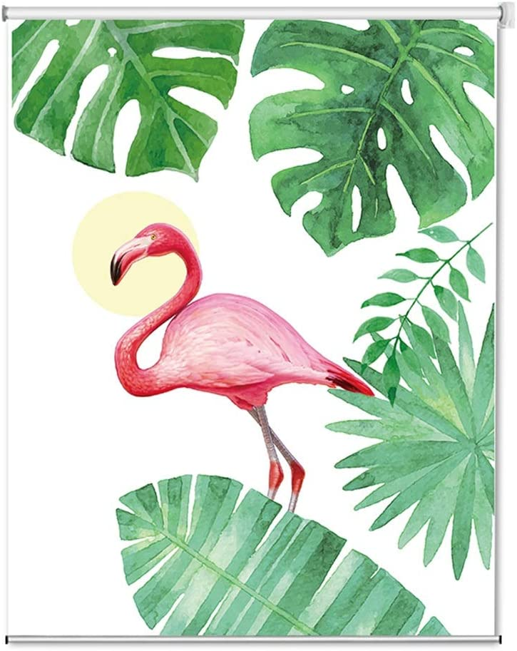 Waterproof Max 74% OFF Roller Blinds with Full Flamingo Gifts Patterned Blackout