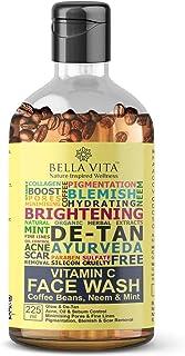 Bella Vita Organic Vitamin C Face Wash for Oil Control, Hydration, Brightening, Pore Cleansing, Detan, Pigmentation, Blemishes, Acne & Sensitive Skin, Sulfate & Paraben Free, 225 ml
