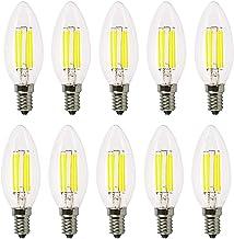 Led bulbs, YWXLIGHT, E12 LED Bulb Filament Bulb LED Candle Lamp 6W Equivalent Replacement 60W Halogen Lamp AC 110-130V Vin...