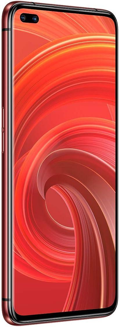 Realme x50 pro smartphone con obiettivo ultra-grandagolare display 90 hz super amoled 64 mp quad camera dua RMX2075-red-12-256