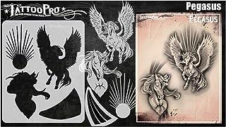 Tattoo Pro Stencils - Pegasus, Mylar Airbrush Tattoo-sjabloon, herbruikbare schminksjabloon