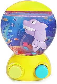 KONIG KIDS Handheld Shark Water Game Machine Ocean World Learning Toy for Toddlers, Yellow