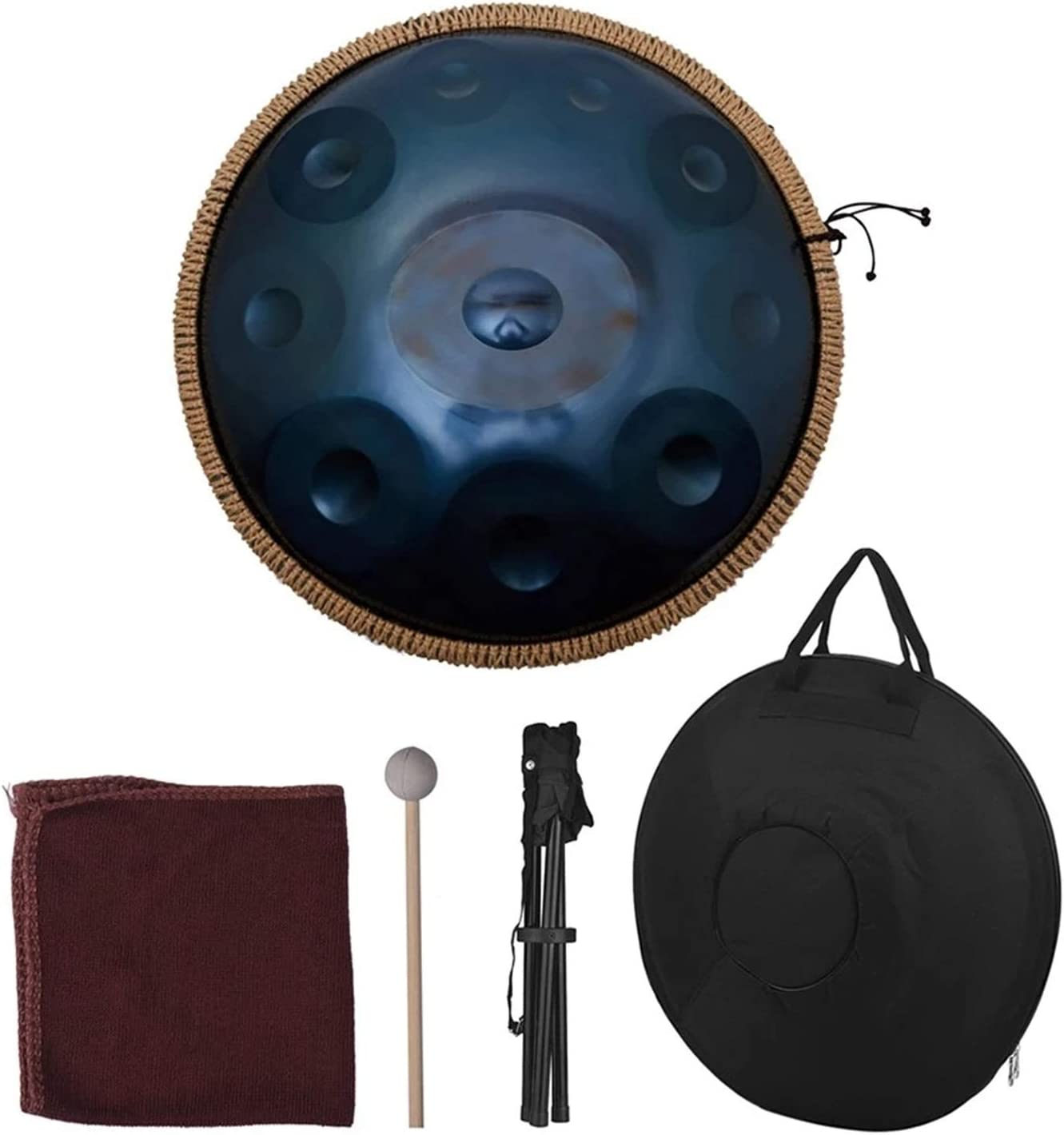 Genuine Teerwere Hand Pan Rare 10 Notes with Drum Handpan Stick Cleaning