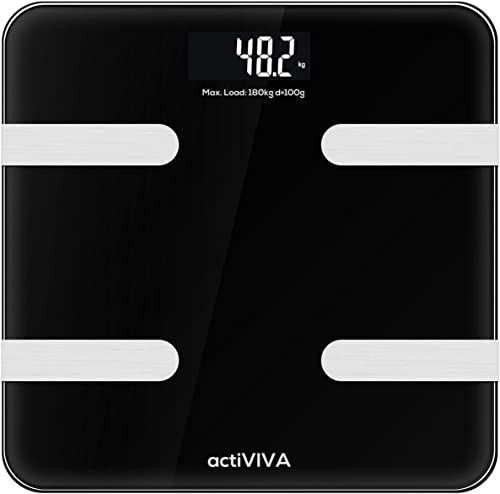 mbeat actiVIVA Bluetooth BMI Body Fat Smart Health Monitor Weight Scale Tracker Smartphone App LED