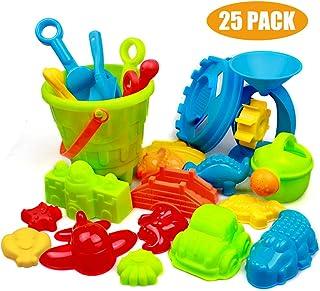 Patr/ón Aleatorio de Color Aleatorio Toyvian 7 Piezas de Juguetes de Arena de Playa de Pl/ástico Ni/ños Carro Peque/ño Regadera Cubo de Playa Juego de Herramientas de Pala