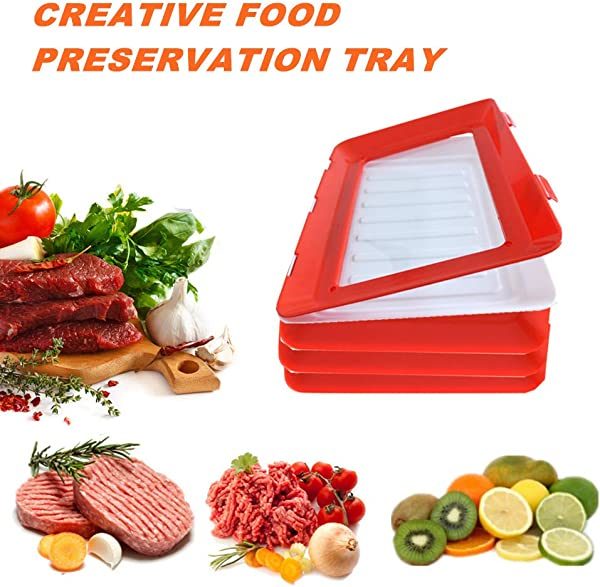 Elastic Tray Food Plastic Preservation Tray Reusable Magic Technology Elastic Film Buckle Seal Storage Container Kitchen Tools Buckle Seal Storage Container Kitchen Tools Reusable
